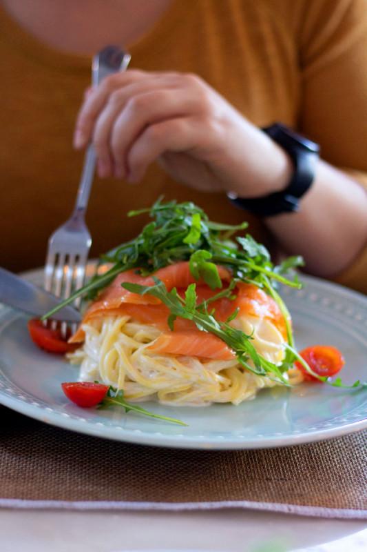 pasta mit lachs rezept raeucherlachs bremer gewuerzhandel