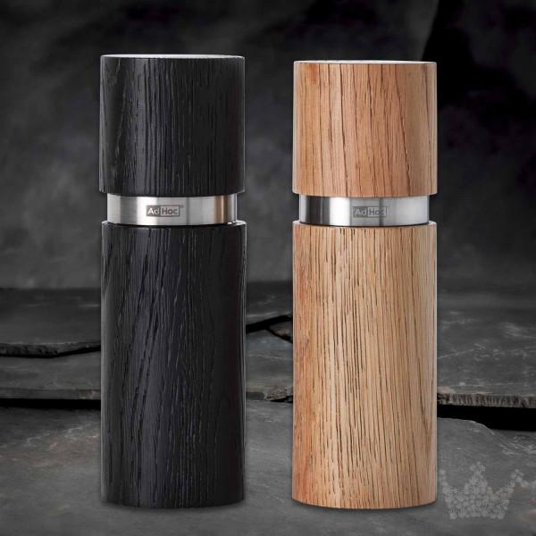 AdHoc Textura Set, Pfeffermühle & Salzmühle, Holz / Edelstahl