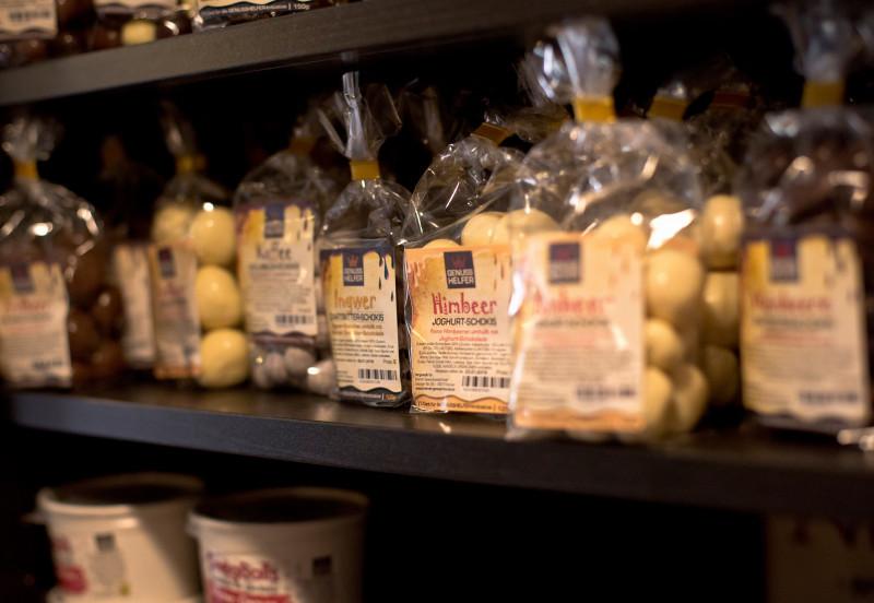Schokofrüchte vom Bremer Gewürzhandel im Ladengeschäft in Findorff
