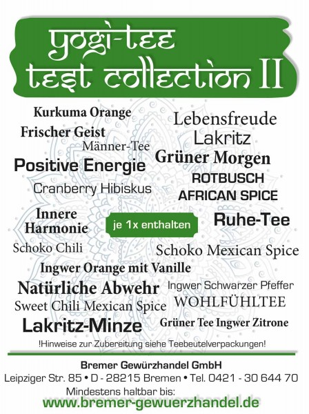 Yogi Tee Test Collection 2, 20 leckere Sorten, BIO