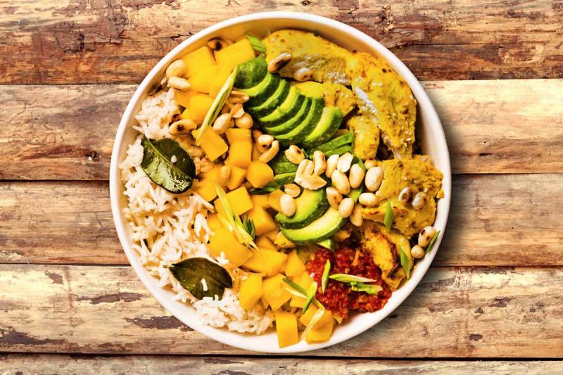haehnchen mango curry breme