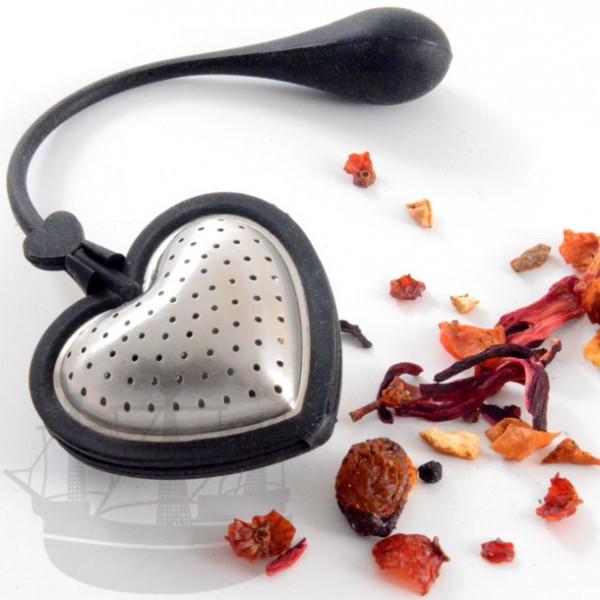 Tee Filter Tea Heart, Edelstahl/Silikon