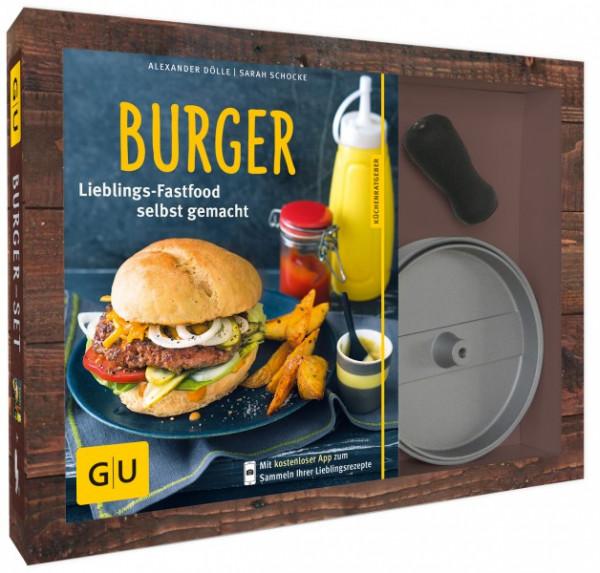 Burger-Set inkl. 1 antihaftbeschichteter Burgerpresse / Alexander Dölle / Sarah Schocke