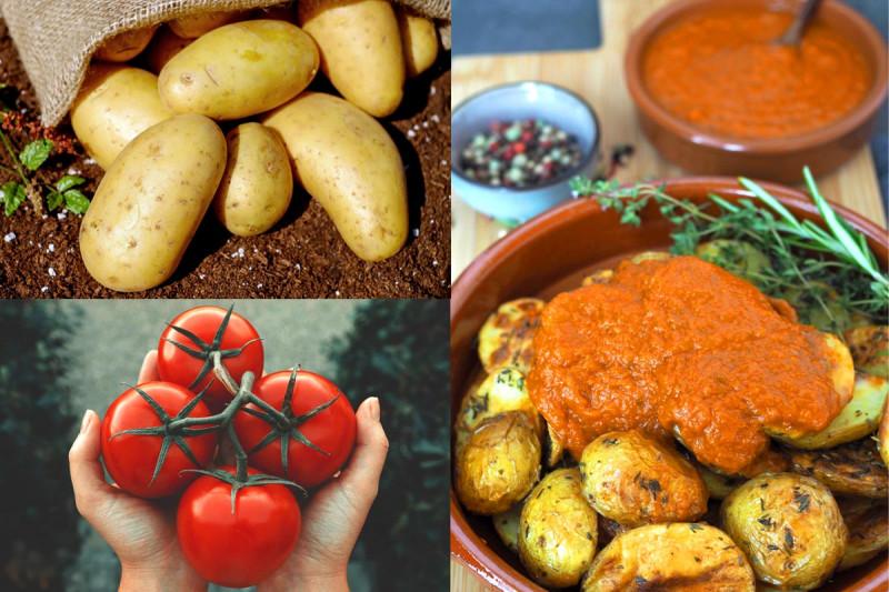 collage patatas bravas mit salsa bremer gewuerzhandel rezept sandy