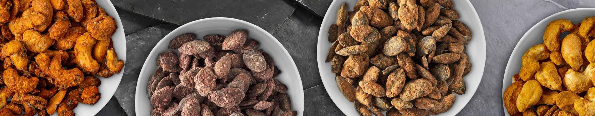 Geröstete Nüsse und Kerne