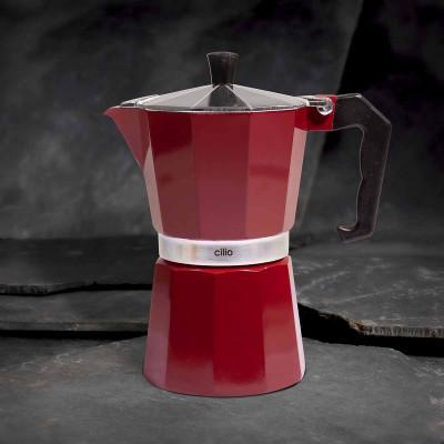 Cilio Espressokocher Classico, 6 Tassen, berry