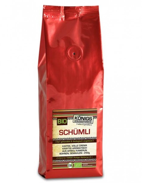 Schümli Kaffee Crema, kräftig, BIO, gemahlen