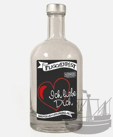Flaschenpost, Ich liebe Dich, 500ml