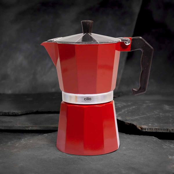 Cilio Espressokocher Classico, 6 Tassen, rot