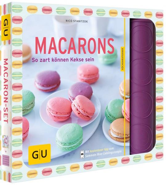Macaron-Set mit Silikon-Backmatte