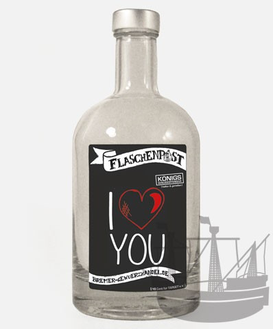 Flaschenpost, I love you, 500ml