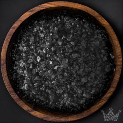 Hawaii Salz Black Lava, schwarz