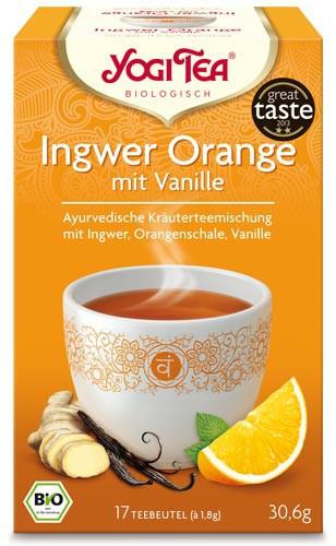 Yogi Tee Ingwer Orange mit Vanille, BIO