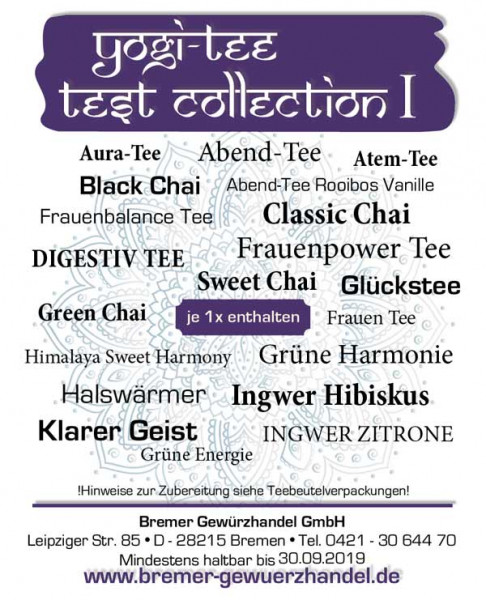 Yogi Tee Test Collection 1, 20 leckere Sorten, BIO