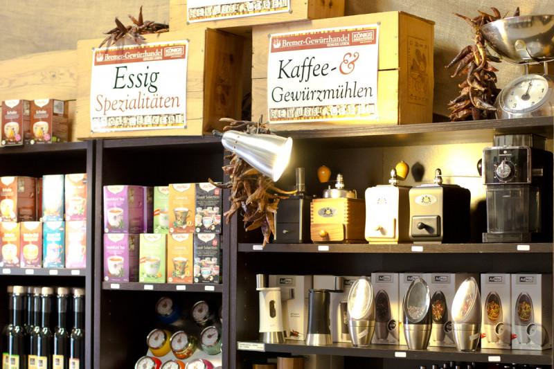 Kaffeemühlen und Gewürzmühlen im Laden vom Bremer Gewürzhandel kaufen