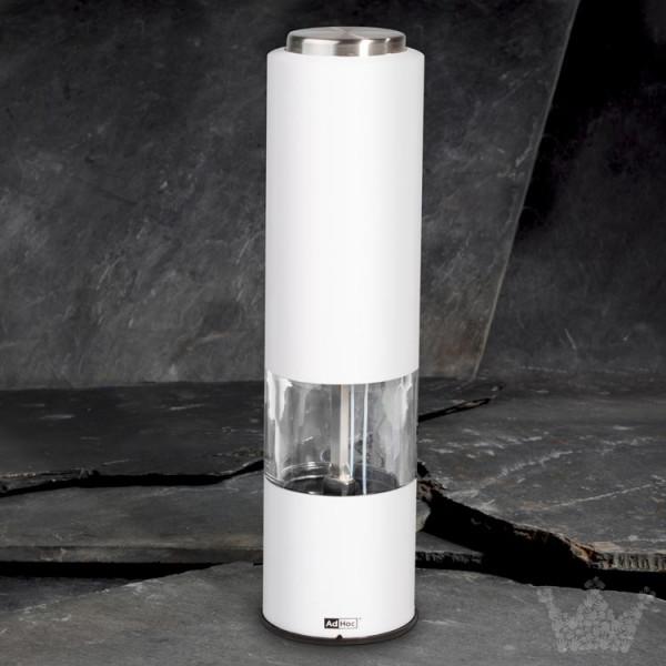 AdHoc Tropica, 20 cm, elektrisch, weiß, Pfeffer- oder Salzmühle
