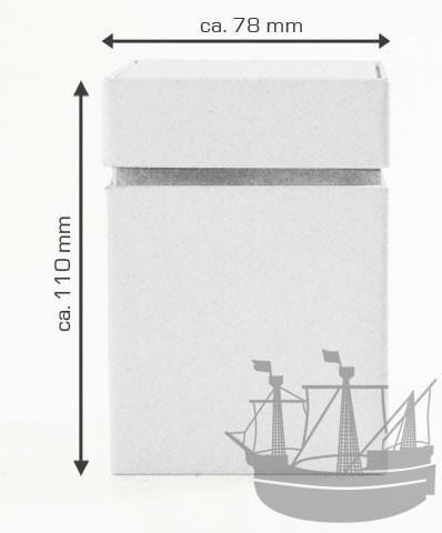 Stülpdeckeldose, 78 x 78 x 110 mm, weiß
