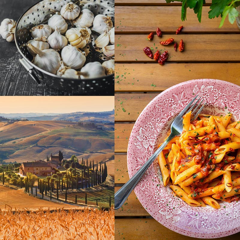 collage italien genussurlaub