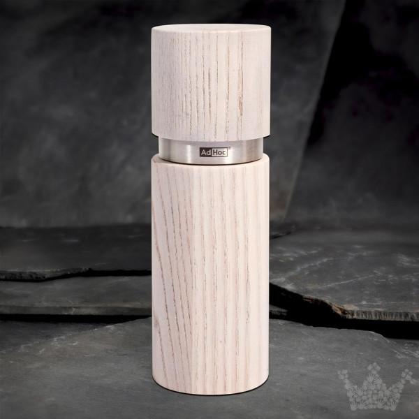 AdHoc Textura Antique weiß, 15cm, Pfeffer- & Salzmühle