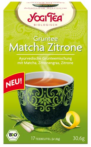 Yogi Tee Matcha Zitrone, Grüntee, BIO
