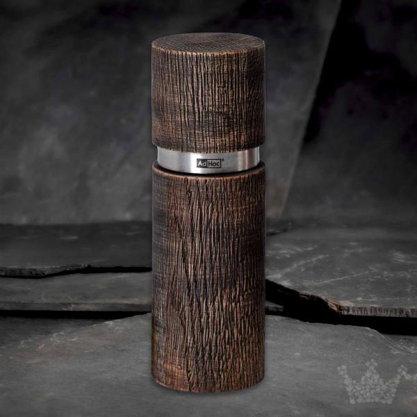 AdHoc Textura Antique dunkel, 15cm, Pfeffer-oder Salzmühle