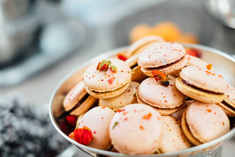 Macarons natur Schale Bremer Gew rzhandel