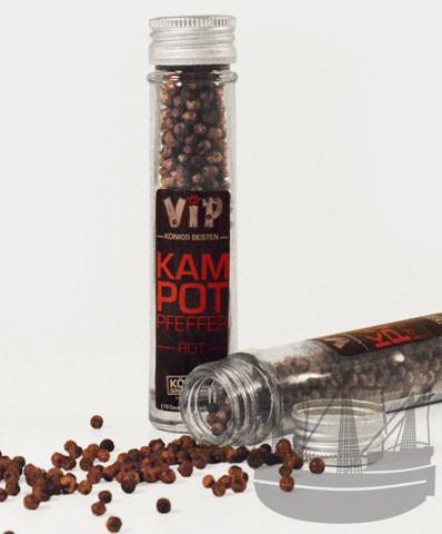 VIP Kampot Pfefferrot, ganz, im Glas