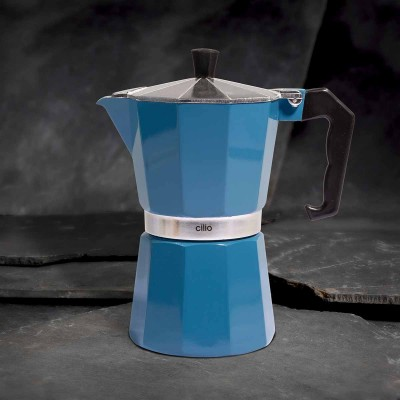 Cilio Espressokocher Classico, 6 Tassen, ocean blue