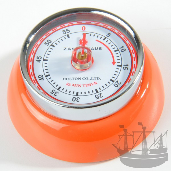 Küchentimer / Eieruhr retro, orange, Zassenhaus