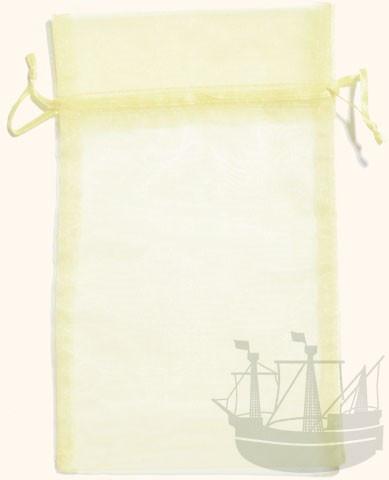 Organzabeutel, Geschenkverpackung, 20x12 cm, creme