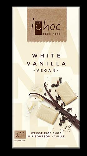 Ichoc White Vanilla, vegane Schokolade, BIO
