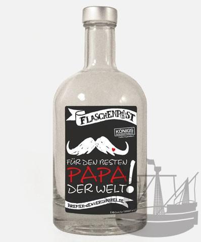 Flaschenpost, Für den besten Papa der Welt, 500ml
