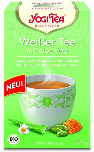 Yogi Tee Weißer Tee mit Aloe Vera, BIO