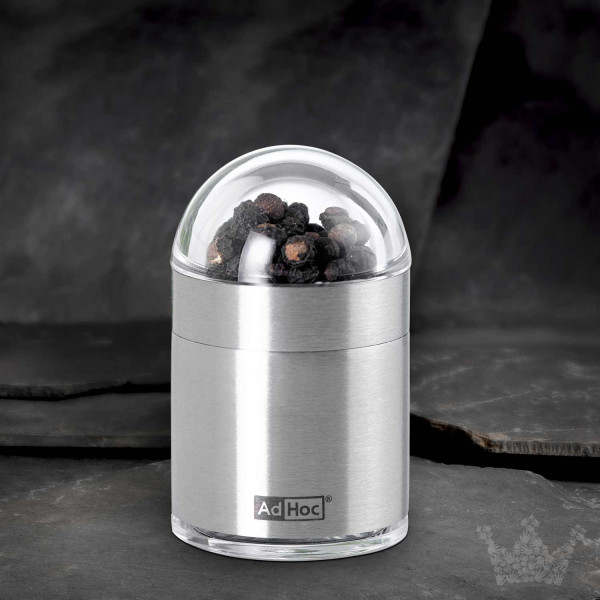 Adhoc Pfeffer- oder Salzmühle Peknick, Edelstahl/Acryl, 6cm