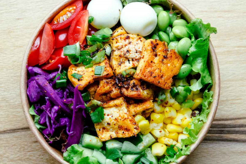 tofu auf salat gebraten bremer gewuerzhandel