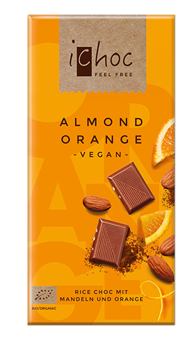 Ichoc Almond Orange, vegane Schokolade, BIO