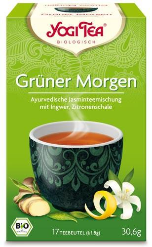 Yogi Tee Grüner Morgen Tee, BIO