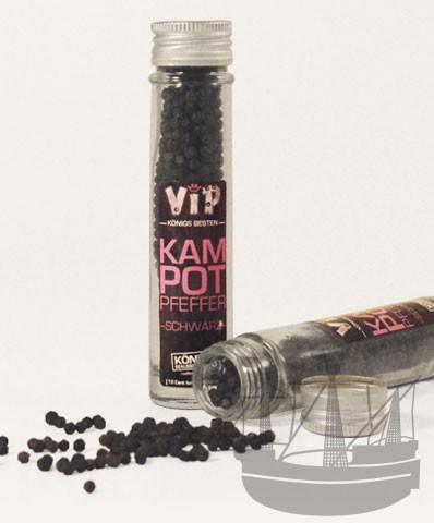 VIP Kampot Pfeffer schwarz, ganz, im Glas