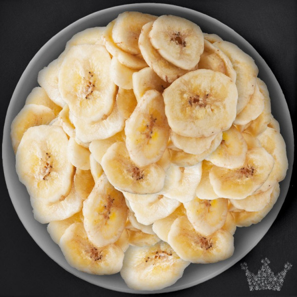Bananenchips, gesüßt