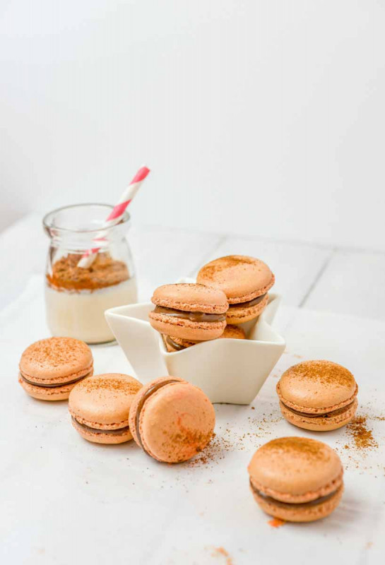 Macarons braun Schokolade Bremer Gew rzhandel