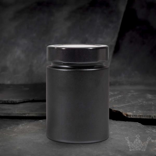Gewürzglas mit Schraubverschluss, schwarz, 192ml,92 x62 mm