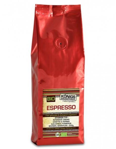 Espresso Crema, starker Typ, BIO, gemahlen