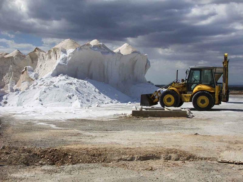 Salz Abbau Bergwerk Steinsalz