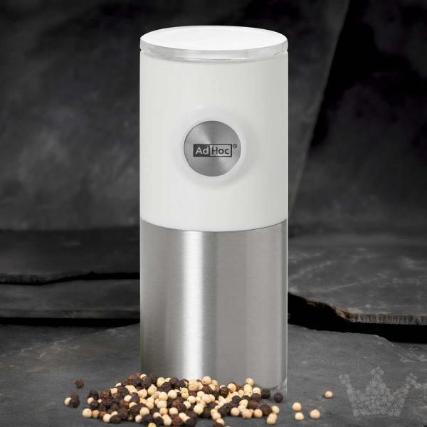 Adhoc Magnetische Pfeffer- oder Salzmühle Pepnetic weiß, 11cm