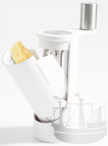 AdHoc Pisa, 16 cm, weiß, Parmesanmühle / Parmesanreibe