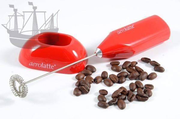 Milchaufschäumer Aerolatte mit Standfuß, rot