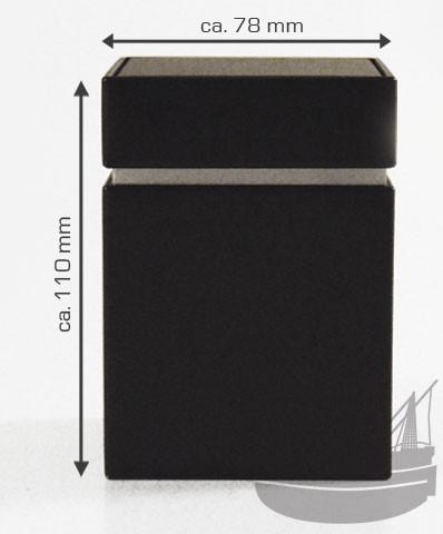 Stülpdeckeldose, 78 x 78 x 110 mm, schwarz