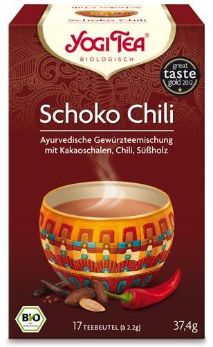 Yogi Tee Schoko Chili, BIO