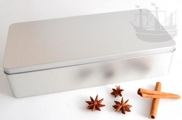 Geschenkdose, Stollendose mit Scharnierdeckel, rechteckig, 320 x 155 x 75 mm