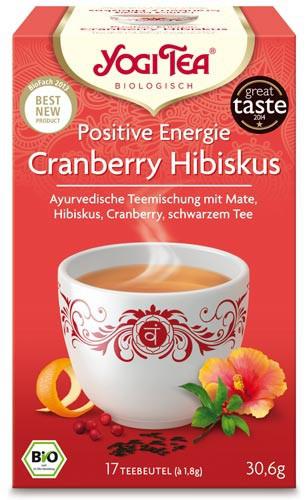 Yogi Tee Positive Energie Cranberry Hibiskus, BIO